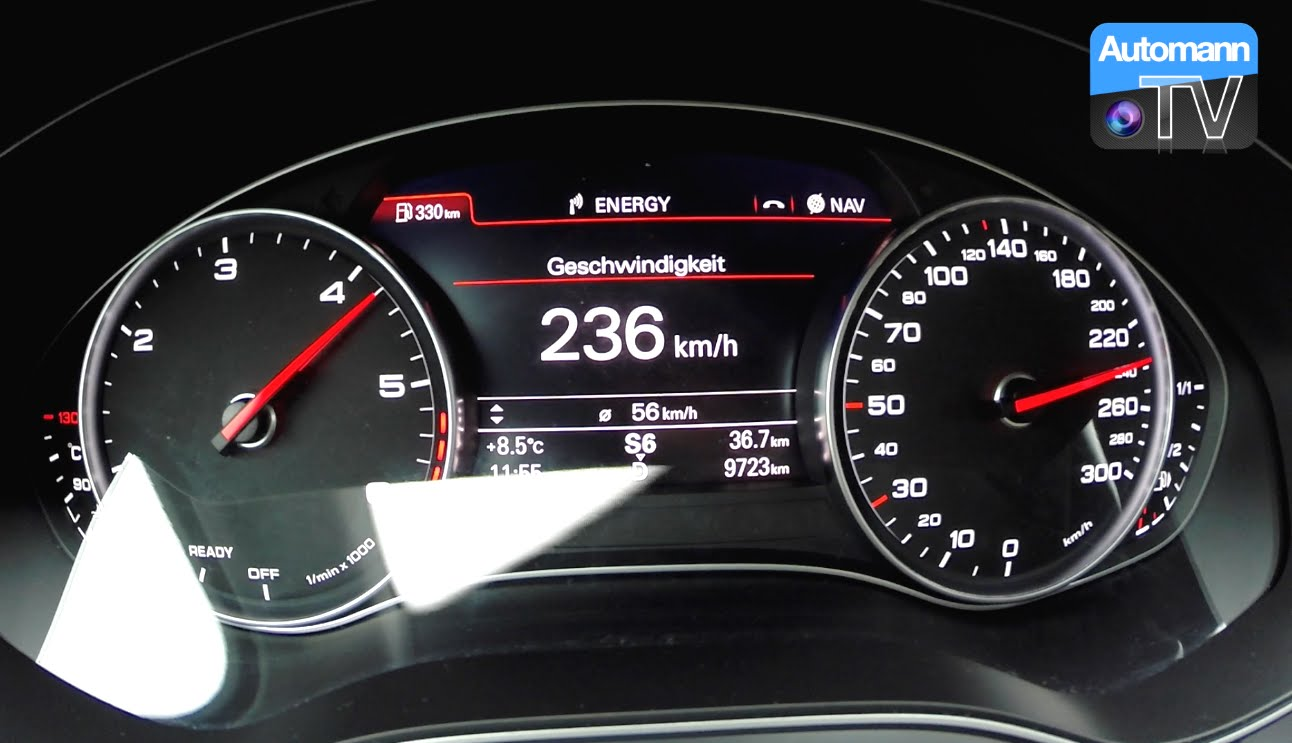 2016 Audi A6 30 Tdi Competition 346hp 0 236 Kmh Acceleration