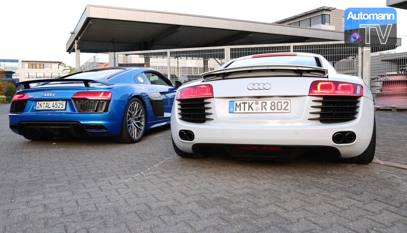 Audi R8 V8 vs. V10 PLUS – pure SOUND (60FPS)