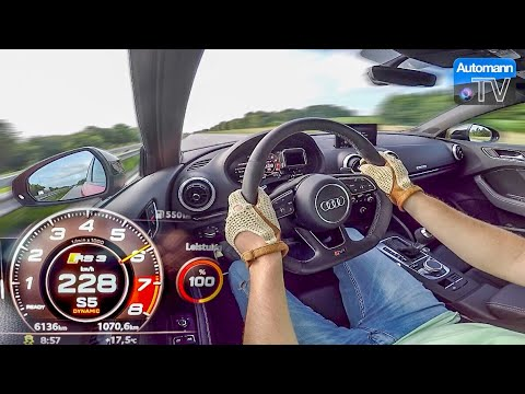 Audi RS3 Sedan (400hp) – 0-284 km/h LAUNCH CONTROL (60FPS)