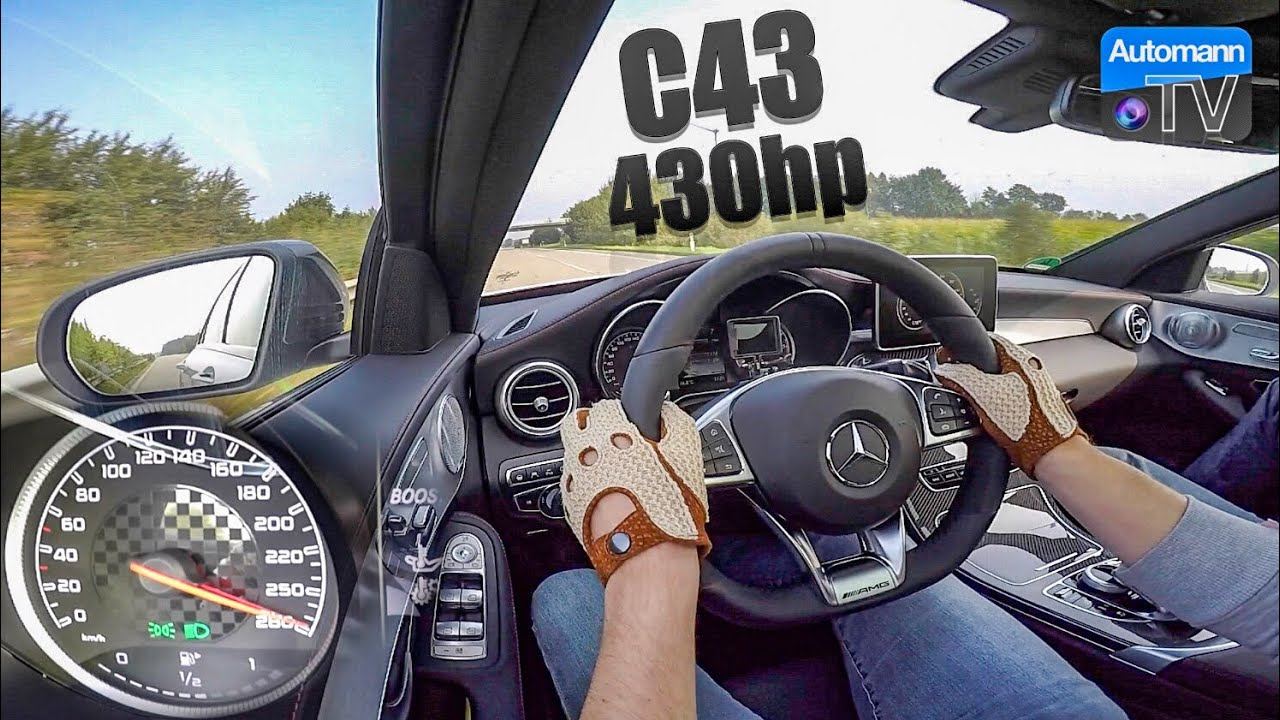 2018 Mercedes-AMG C43 (430hp) – 0-273 km/h acceleration (60FPS)