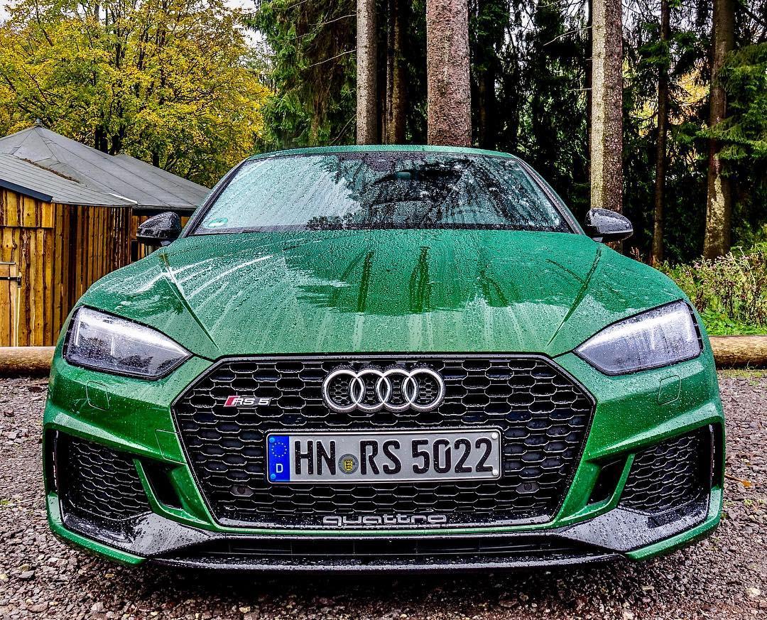 GREEN🌲🍏💚…is the new blue😱 @audi_de @audisport #audi #audirs #audirs5 #rs5 #green #greenrs5 #audisport #quattro #leagueofperformance #rosdtrip #thüringerwald #automanntv