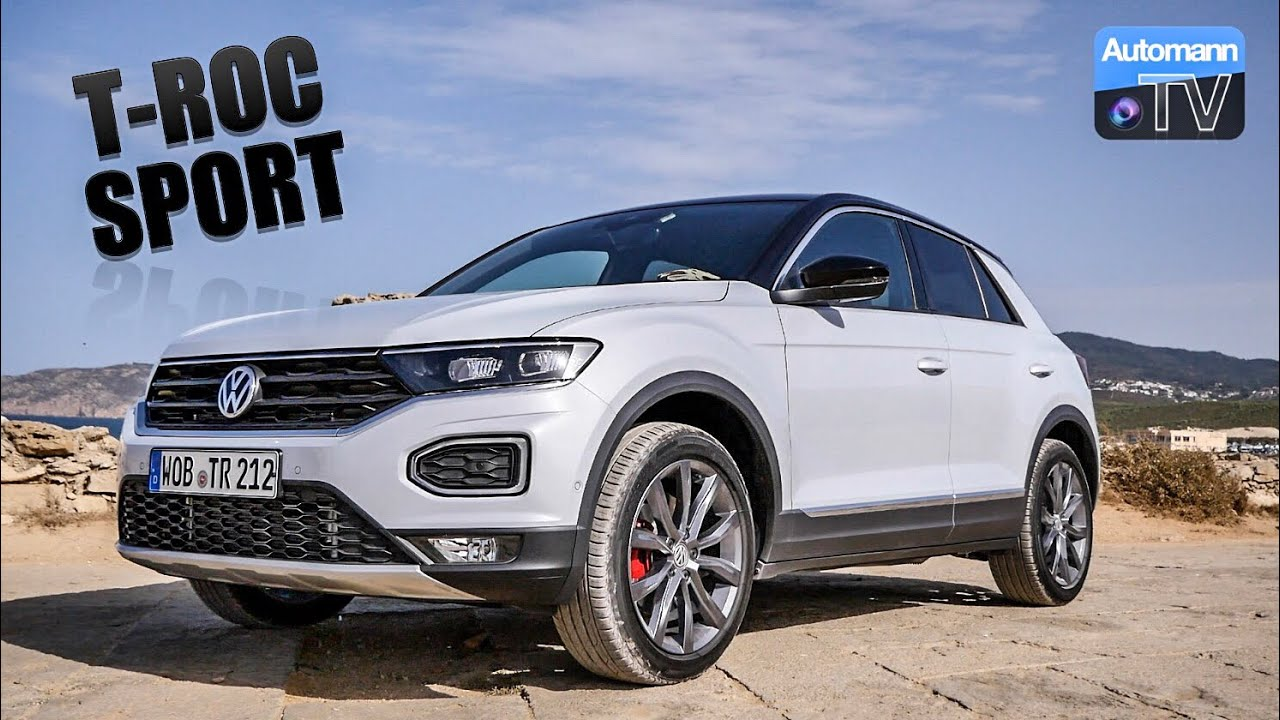 2018 VW T-ROC Sport (190hp) – DRIVE & SOUND (60FPS)