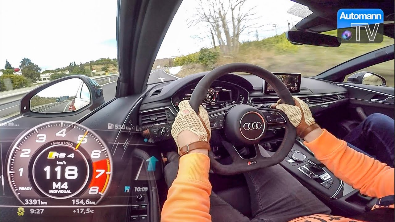 2018 Audi RS4 (450hp) – 0-100 km/h LAUNCH CONTROL (60FPS)