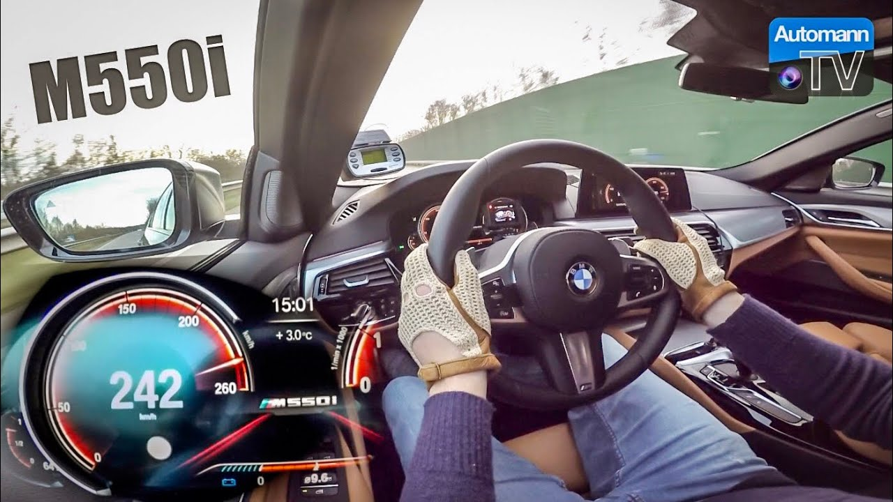 2018 BMW M550i (462hp) – 0-255 km/h LAUNCH CONTROL (60FPS)
