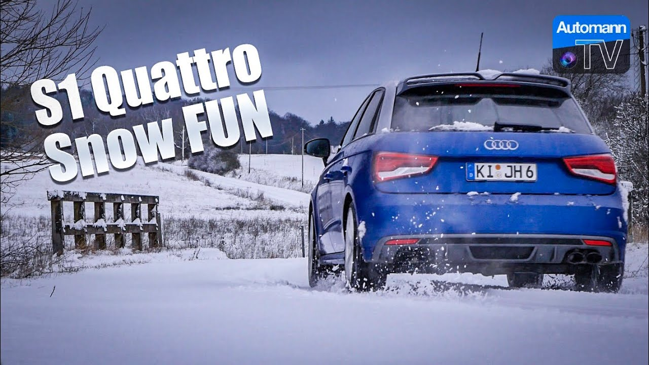 Audi S1 + EGO-X – SNOW FUN DRIVE (60FPS)