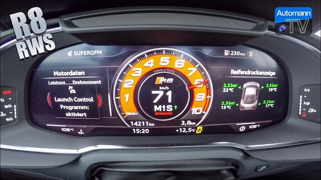 Audi R8 RWS – LAUNCH CONTROL acceleration (60FPS)