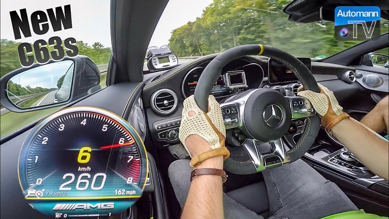 2019 C63s AMG (510hp) – 0-280 km/h RACE START🏁