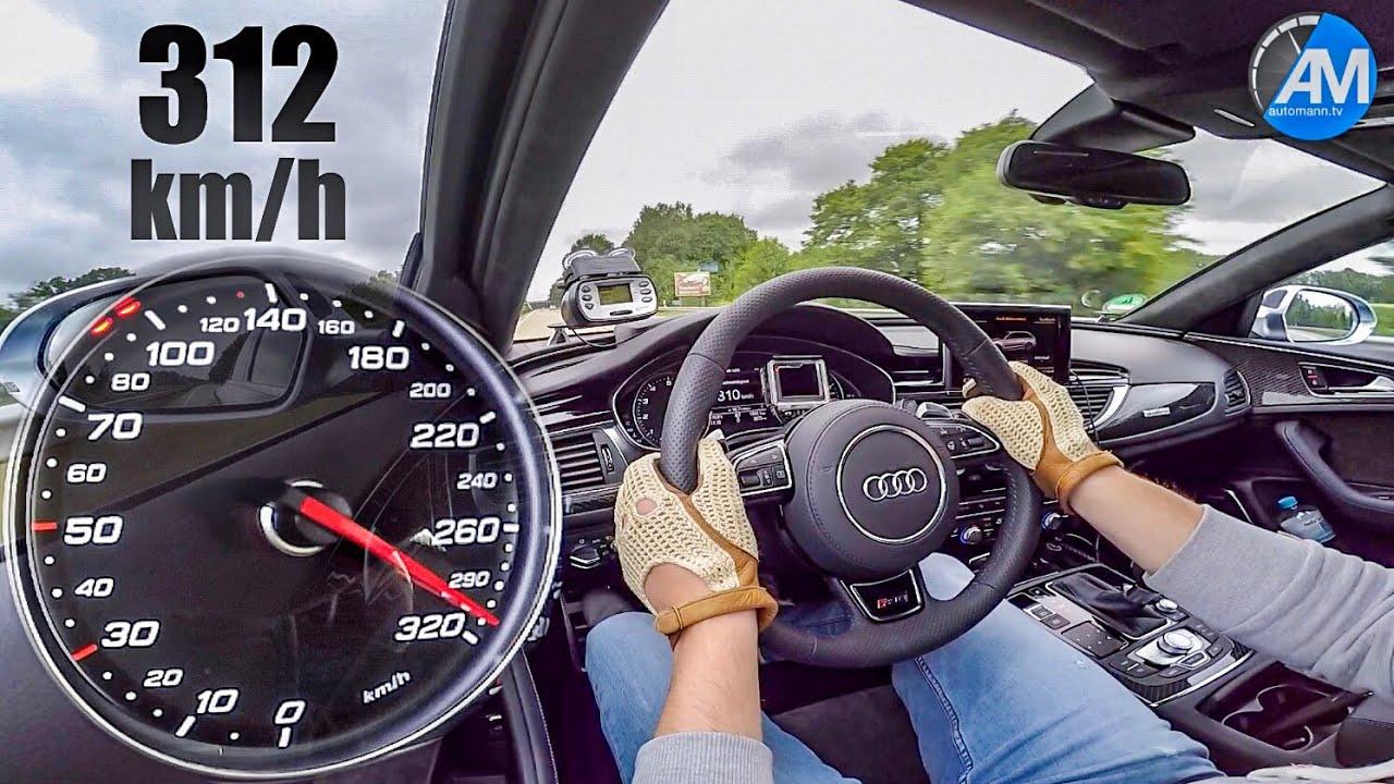 Audi RS6 Performance (605hp) – 0-312 km/h acceleration!