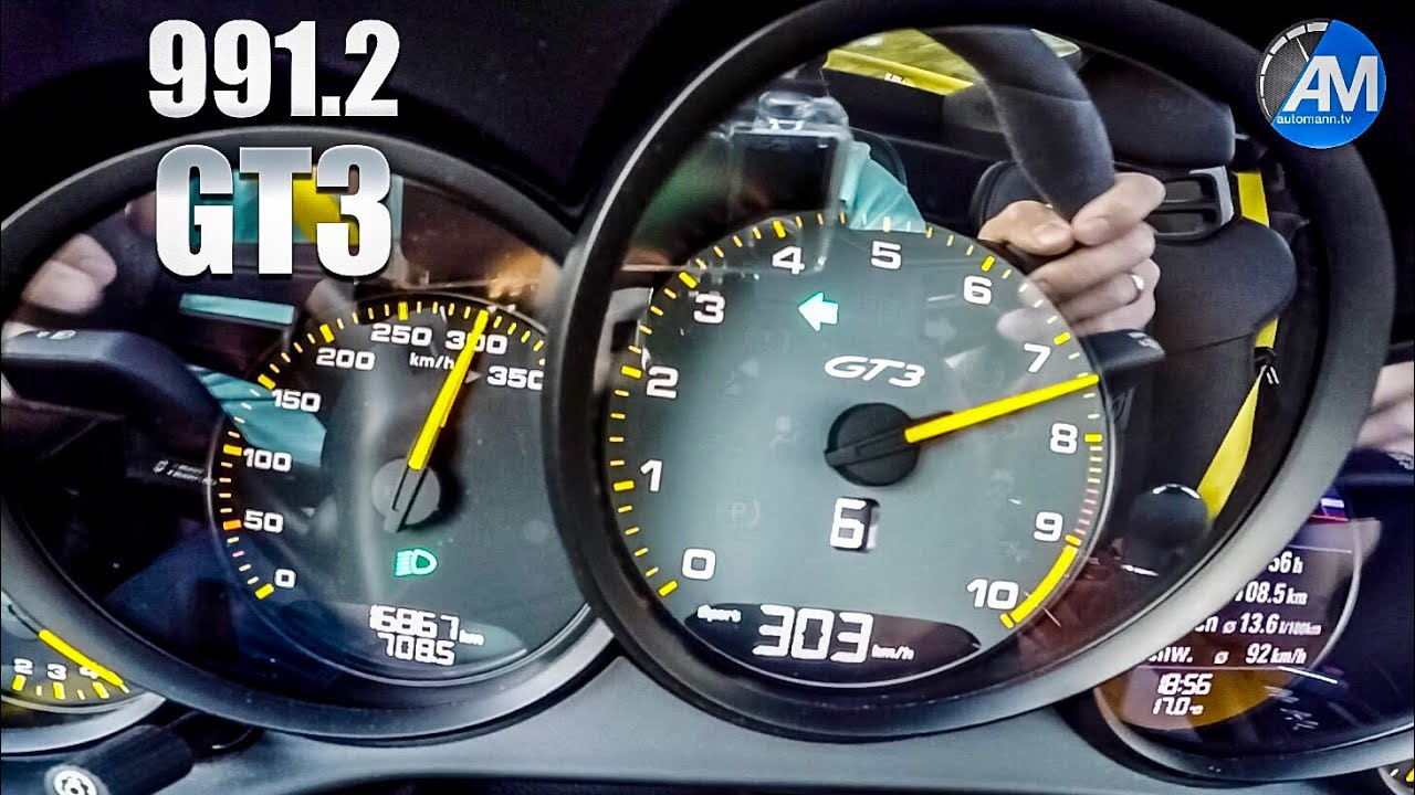 Porsche 991.2 GT3 (4.0) – 0-300 km/h acceleration🏁