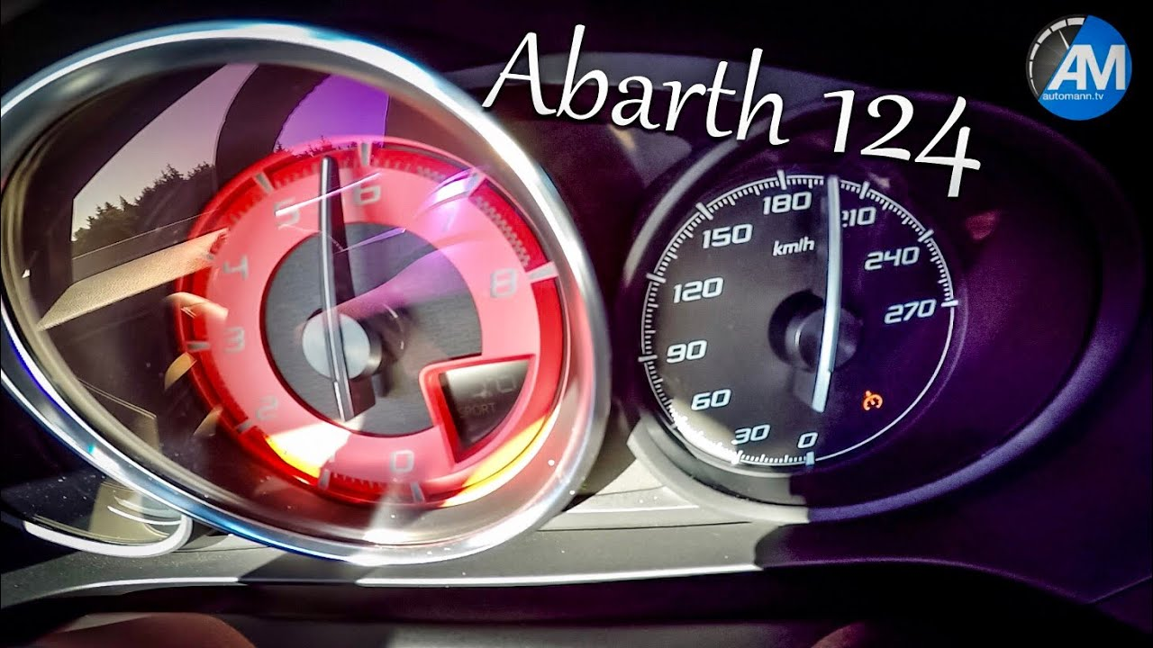Abarth 124 Spider – 0-220 km/h acceleration!🏁