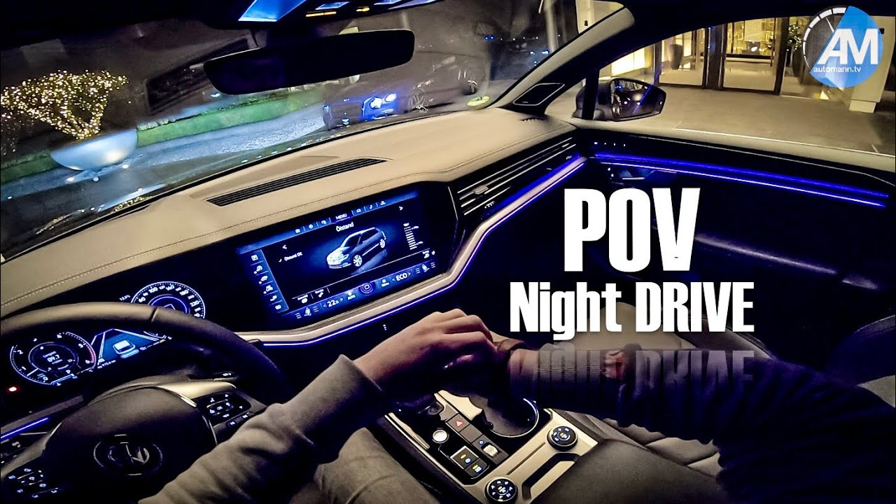 2019 Touareg R-Line – POV Night DRIVE✨