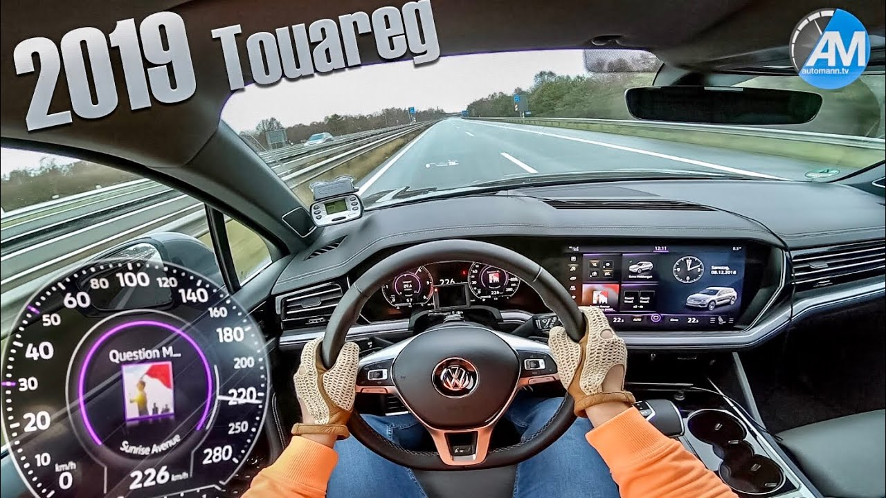 2019 VW Touareg R-Line – 0-200 km/h acceleration!