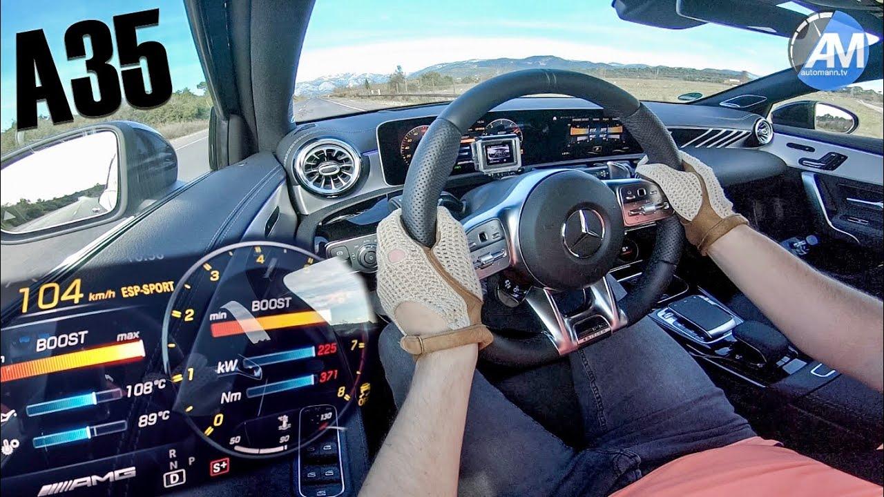 Mercedes-AMG A35 – 0-100 km/h RACE START!