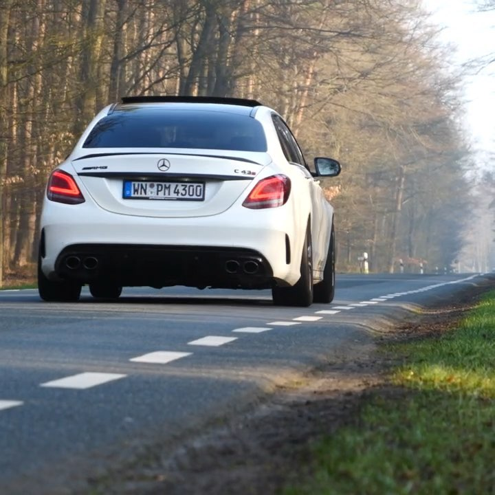 OPF? WLTP? This car is 100% EU-Compliant and still drives & sounds amazing😱🤘Nice work by @performmaster #performmaster #c43amg #c43 #c43performmaster #amg #mercedesamg #amgc43 #c43facelift #c43mopf #automanntv