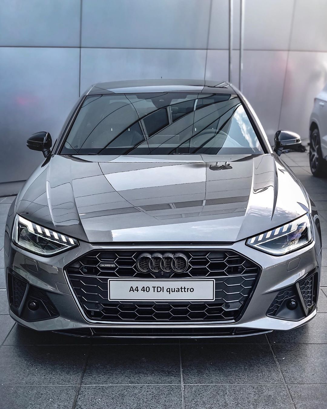 "A4 Facelift MY2020 ☝️…I'm a huge fan of this Update, looks great already as the ""standard"" S-Line model with those optional blacked out badges! Screen is super-intuitive as well although the MMI controller is gone #audia4 #audia4b9 #audia4facelift #a4facelift #a4b9 #sline #a4sline #automanntv #a440tdi #40tdi"