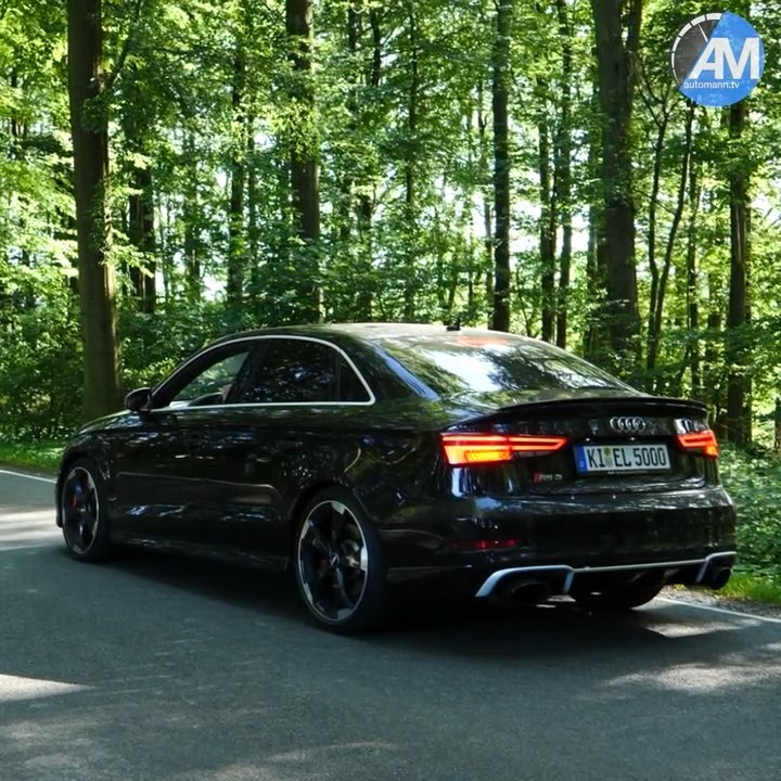 Unbelievable SOUND video of this beast is now on YouTube….had a blast hammering with our RS3 through the woods #Audi rs#audi #audisport #rs3 #rs3limousine #rs3sedan #rs38v #pantherschwarz #pantherblack #blackbeauty #blackpanther #automannsgarage #automanntv