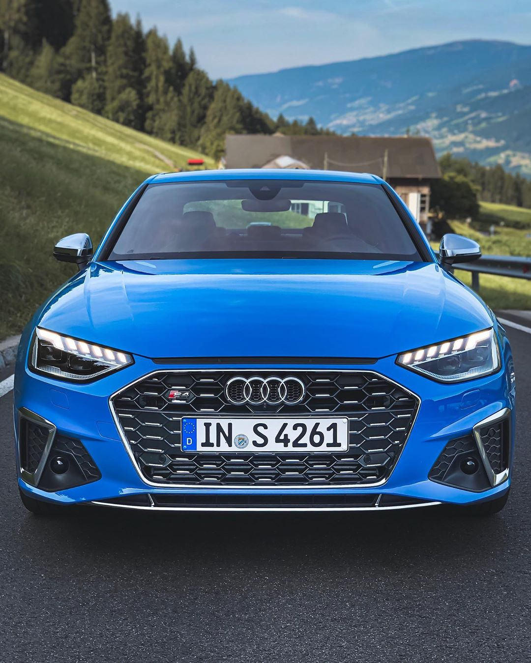 """T U R B O  B L U E  S4 TDI Limo! The second day with the new S4 also doesn't disappoint…surprisingly: It's a car which gets better the faster you drive it…almost seems like a """"high rpm concept"""" which has great pull on top end! #audi #audis4 #audis4b9 #audis4avant #s4facelift #s4 #s4avant #automanntv #s4tdi"""