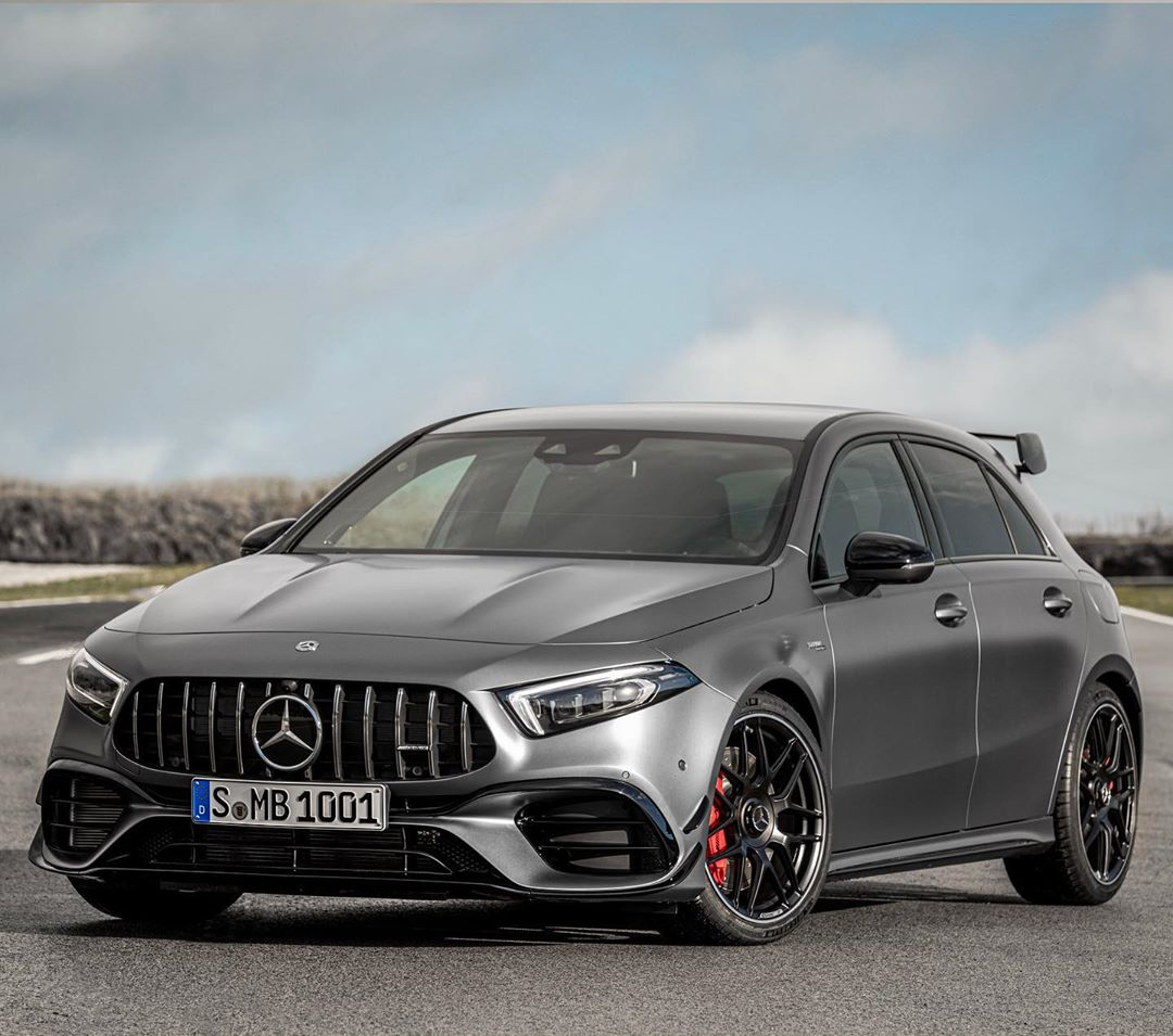 Wooowww…new A45s roars in and we will drive this beast in a couple of weeks酪 photo by @mercedesamg #amg #a45s #a45amg #a35 #amga45s #a45amg #a45amg #automanntv