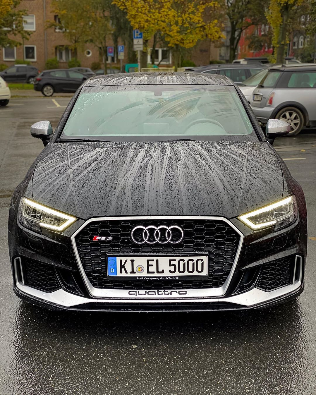Water is dripping off our RS3💦😋…what's your favorite hyper hatch & why?🤔 #Audi rs#audi #audisport #rs3 #rs3limousine #rs3sedan #rs38v #pantherschwarz #pantherblack #blackbeauty #blackpanther #automannsgarage #automanntv