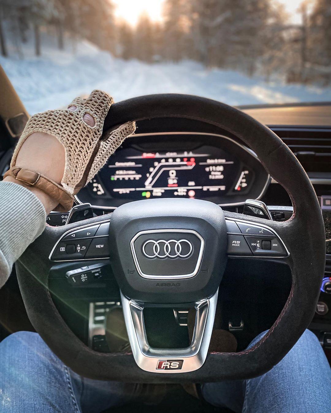 🔥RS Q3 drive in Sweden😱…Nardo-Grey + BLACK design pack & wheels never grows old🤷♂️ @audi_de @audisport #audisport #audirs #audirsq3 #rsq3 #rsq3sportback #audirsq3sportback #snow #sweden #arvidsjaur #automanntv