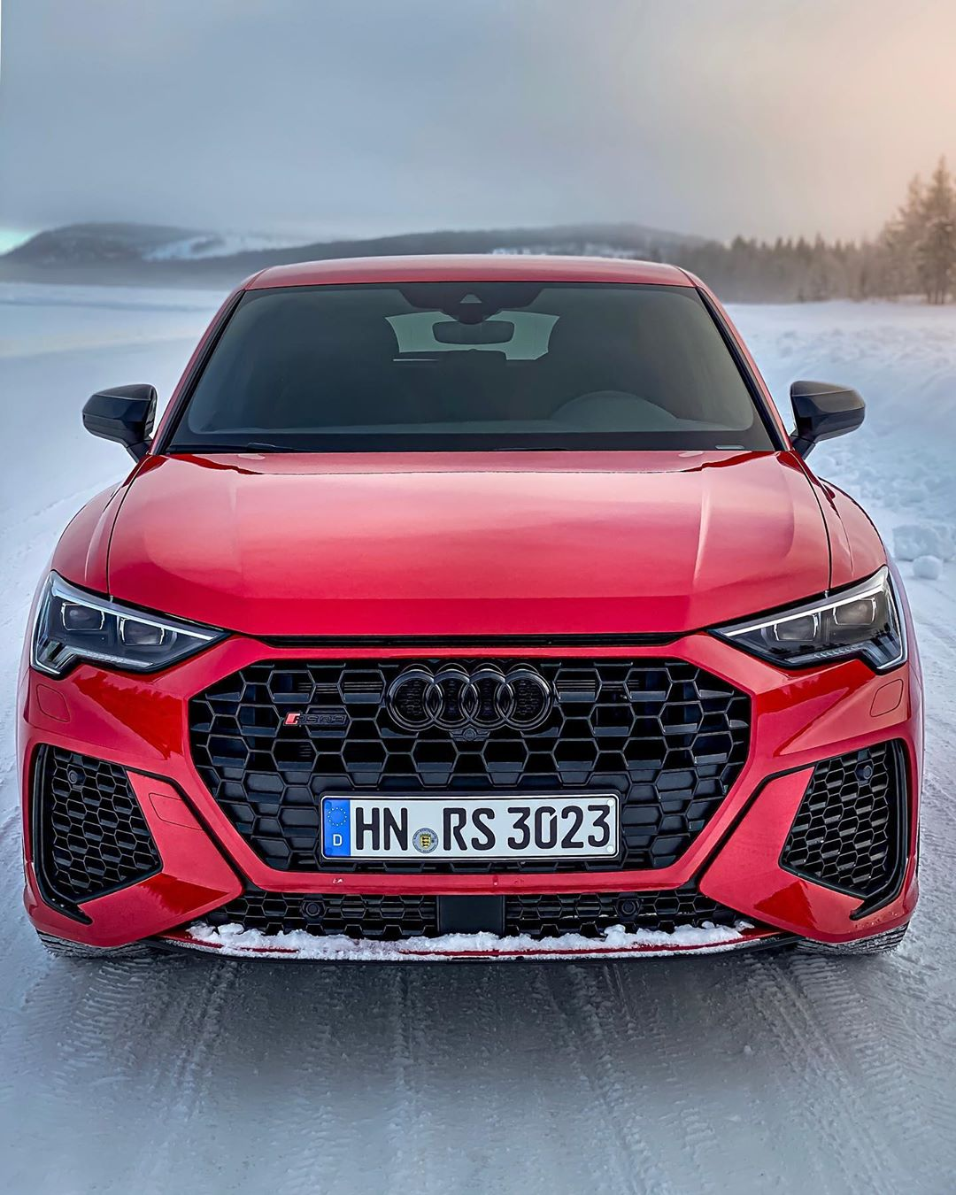 S P O R T B A C K RS Q3 today🏁❄️@audi_de @audisport #audisport #audirs #audirsq3 #rsq3 #rsq3sportback #audirsq3sportback #snow #sweden #arvidsjaur #automanntv